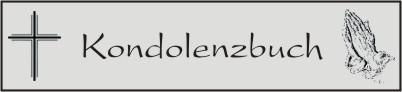Kondolenzbuch - Harald Schneider